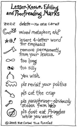 Eve Corbel's Lesser-Known Editing and Proofreading Marks