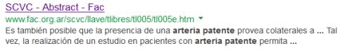 arteria patente