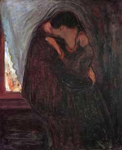 El beso (1897). Edvard Munch
