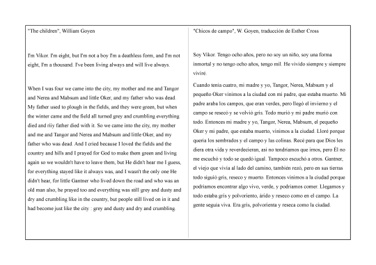 Goyen-The children-Chicos de campo-traduccion comparada1