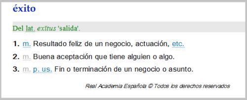 exito-RAE